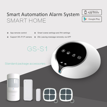 Home Burglar 3G alarm system support 100 wireless sensors and smart sockets APP remote control WIFI alarm system