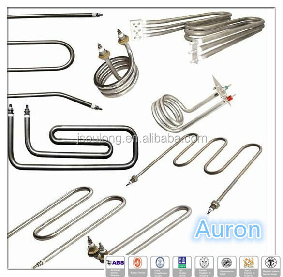 AURON/HEATWLL 30 years manufacturer stainless steel electric tubular <strong>heater</strong>/electric tubular submersible <strong>heater</strong> factory/