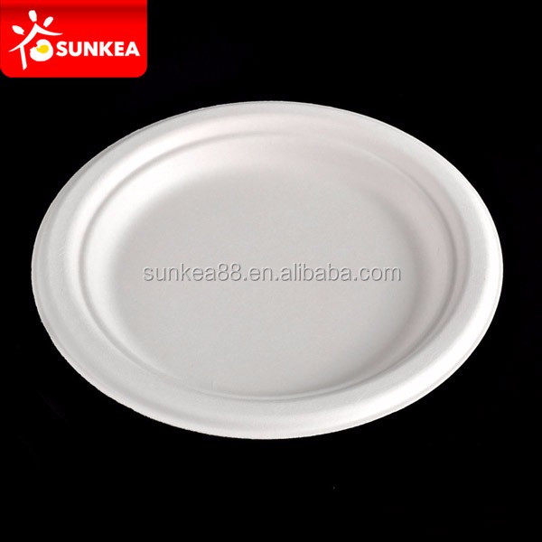 Catering food service 350ml sugarcane pulp tray