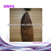 Charming Indian Remy colored two tone human hair weave straight for black women