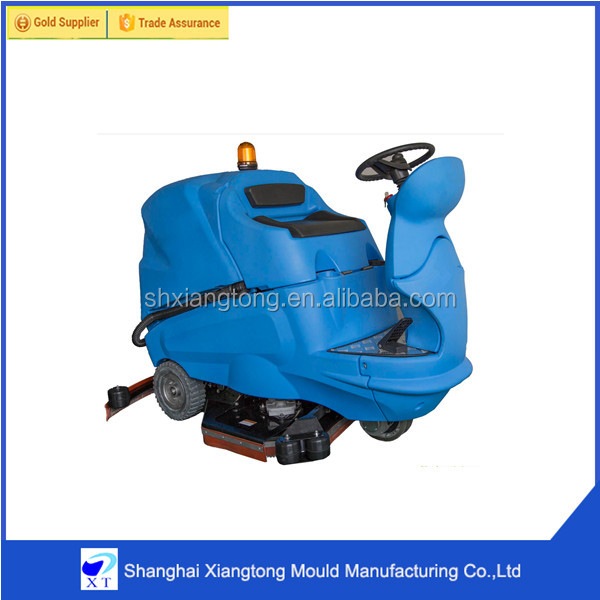 scrubber dryer sweep machine with adjustable handle