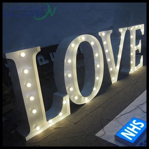 LED Light up love marquee letters for wedding decoration