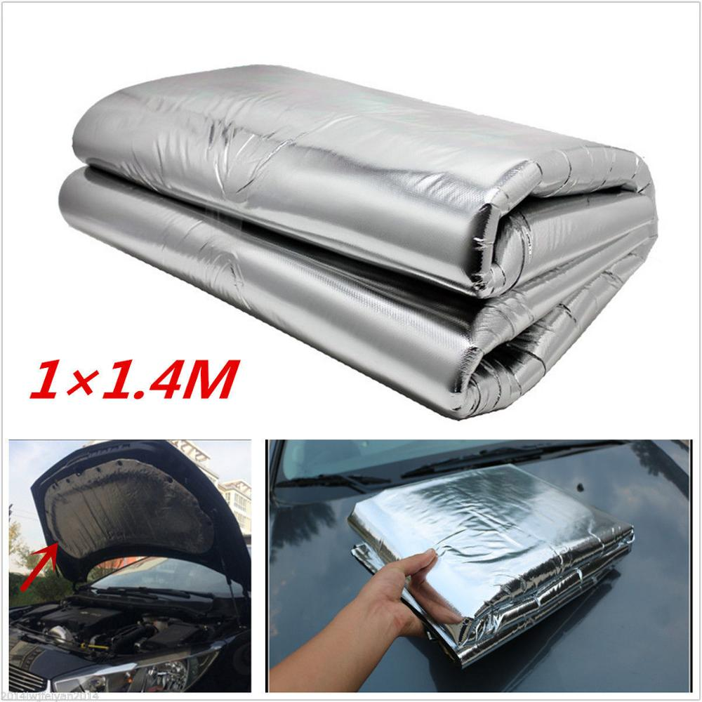 Car Turbo Ehaust Heat Shield Muffler Hood Insulation Fiberglass Cotton Wrap Mat