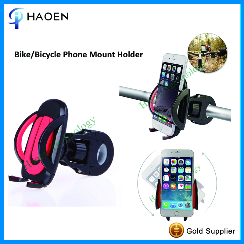 HAOEN Quality Motorcycle Mobile Phone Mount GPS Cradle 360 Degree Rotating Bike Phone holder Bicycle Cellphone Holder