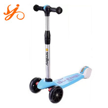 China factory tri wheel scooter for kids / children trike foot scooter / cheap step pedal scooter on sale