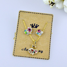 cheap earring and pendant necklace set card jewelry display cards custom jewelry cards