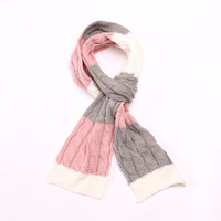 2016 Classic acrylic soft stripe cable lady fashion scarves,customized fashion scarf