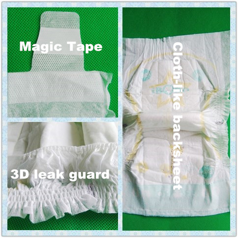 Printing Beauty Cute ADL Baby Diaper Factory Price with Elastic Waistband