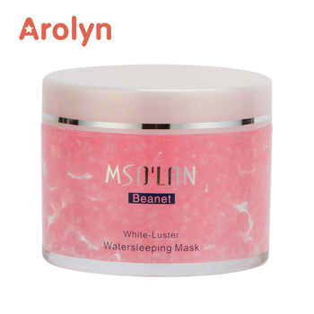 Private label Rose Water Balance Aqua-capsule Moisturizing Soothing Multi-repairing Water sleeping Mask Gel