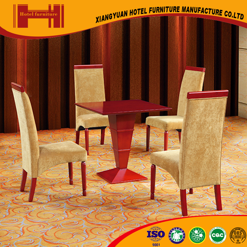factory supplies american style attractive oak wood hotel cream colored dining room table and chairs