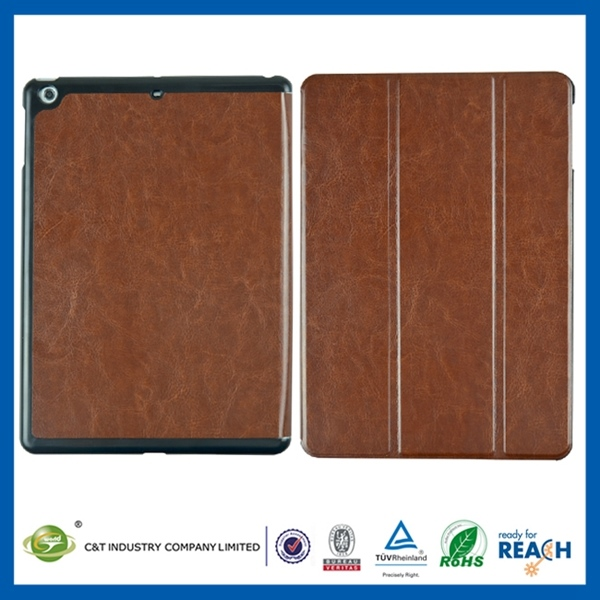 Fashion Custom Printing leather for ipad min smart case cover