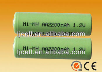 2200mAH 1.2v NI-MH rechargeable AA battery
