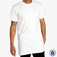 OEM service factory manufacture men long plain combed cotton bigtall wholesale t shirt