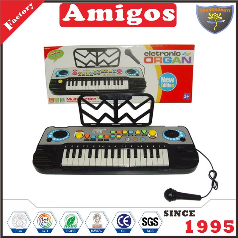 good price electronic organ/electronic keyboard with light music latest toy musical
