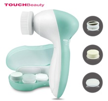 TOUCHBeauty Wholesale Portable Electric facial cleansing brush face wash brush