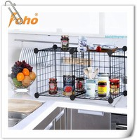 easy portable metal wire wall mounted spice racks