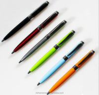 Different color high quality metal ball pen/blue metal pen/orange pen