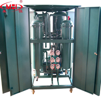 High efficiency vacuum dehydration machine oil purifier remove impurity turbine oil purifier