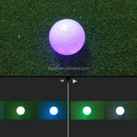 Funny color-changing led golf balls for night golf