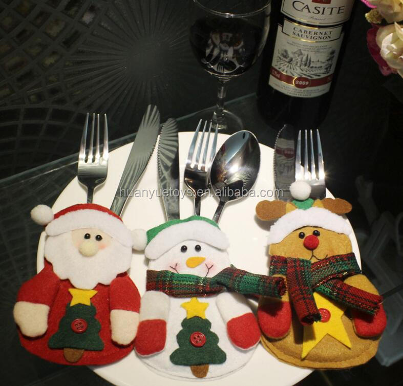 Popular tableware bag knife fork packing decorations hot sale for <strong>christmas</strong>