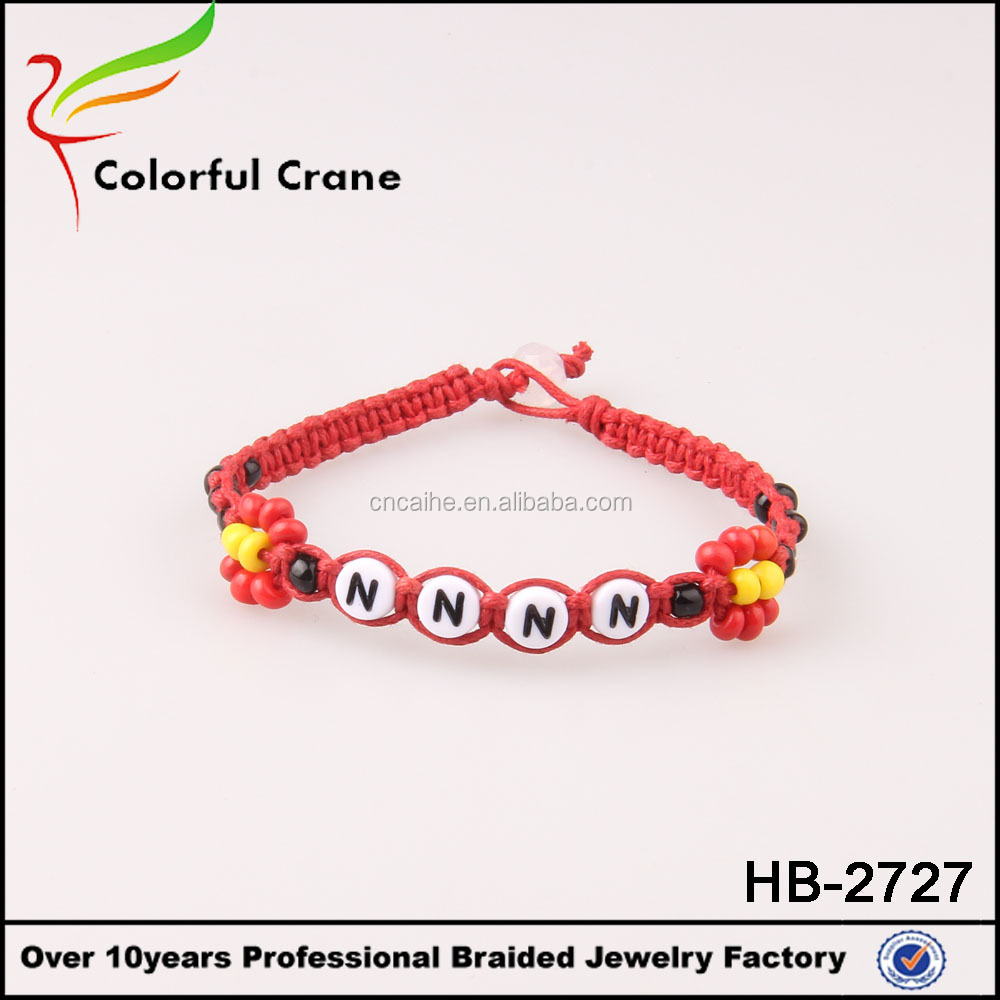 2017 fashion custom braided bracelet write name
