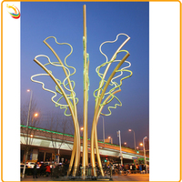 Best Selling Stainless Steel Tree Sculpture Metal Tree With LED Sculpture For Decoration