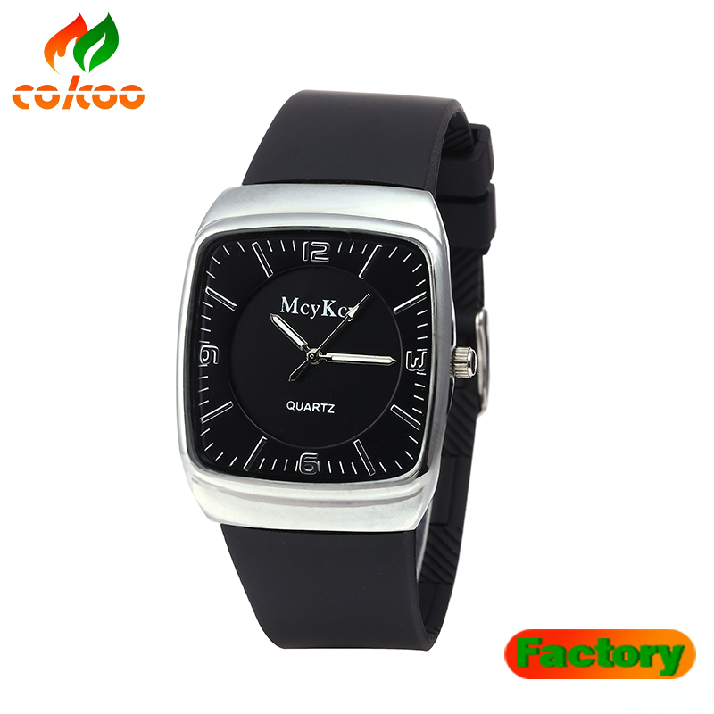 silicone watches fashion charming man sport silicone watch wrap quartz black color outdoor wristwatch wholesale watch