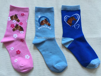 3 pack children girl horse pattern socks AQD-GS-24