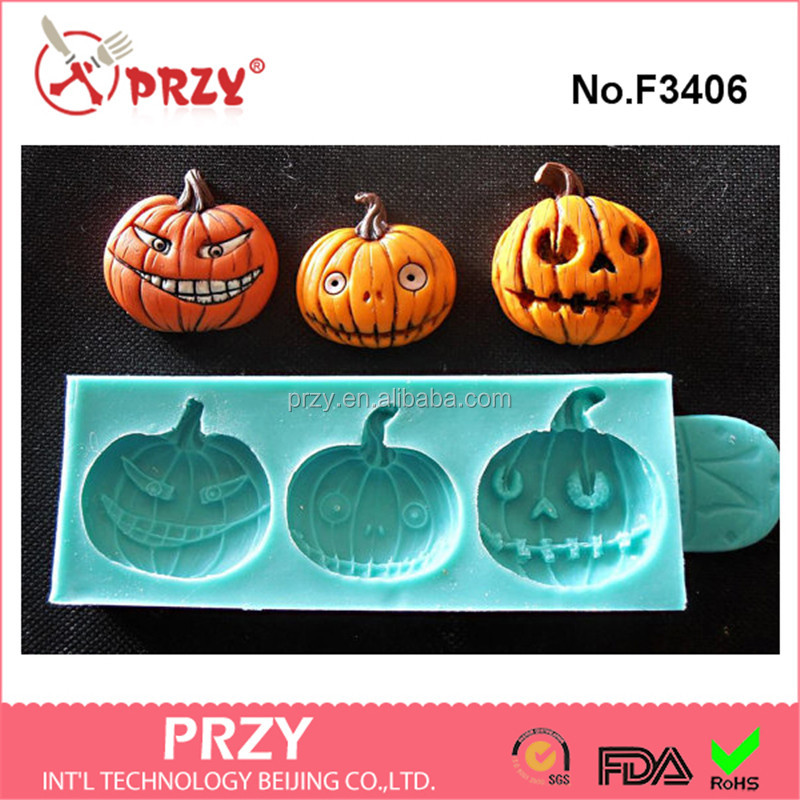 F3406 Silicone cake Mould HALLOWEEN pumpkins cake decorating fondant mold