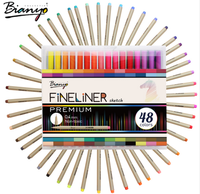 48 Colors micro-line pen for Student coloring design colorful art marker pen