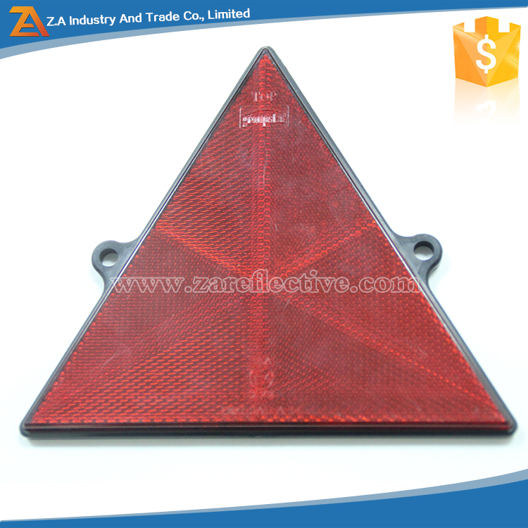 RED Hard Plastic PMMA Safety Reflector Warning Triangle for Highlight