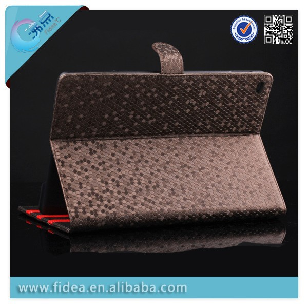 shine leather case for ipad mini from shenzhen factory