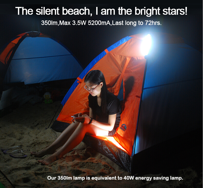 Camping Light Power Bank remote control Rechargeable waterproof led lantern