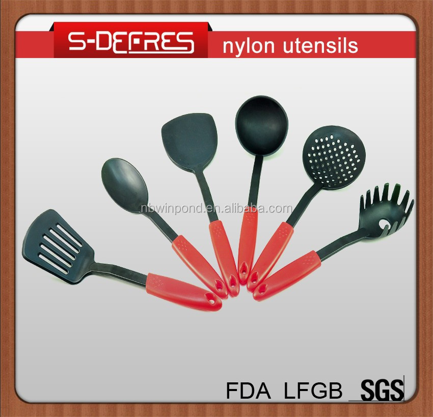 Different shapes nylon cooking tools kitchen utensils list