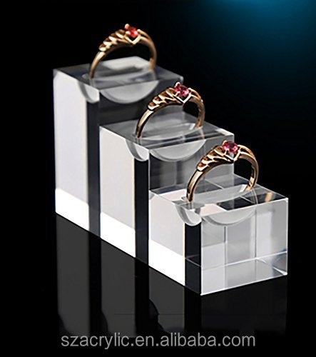 Acrylic jewelry display sets acrylic ring holder jewellery display stand