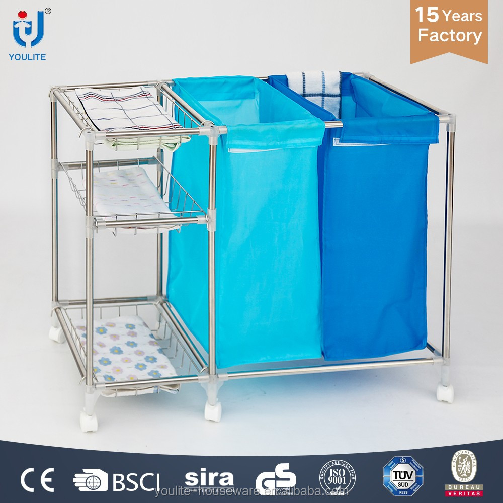 stainless steel laundry basket cover
