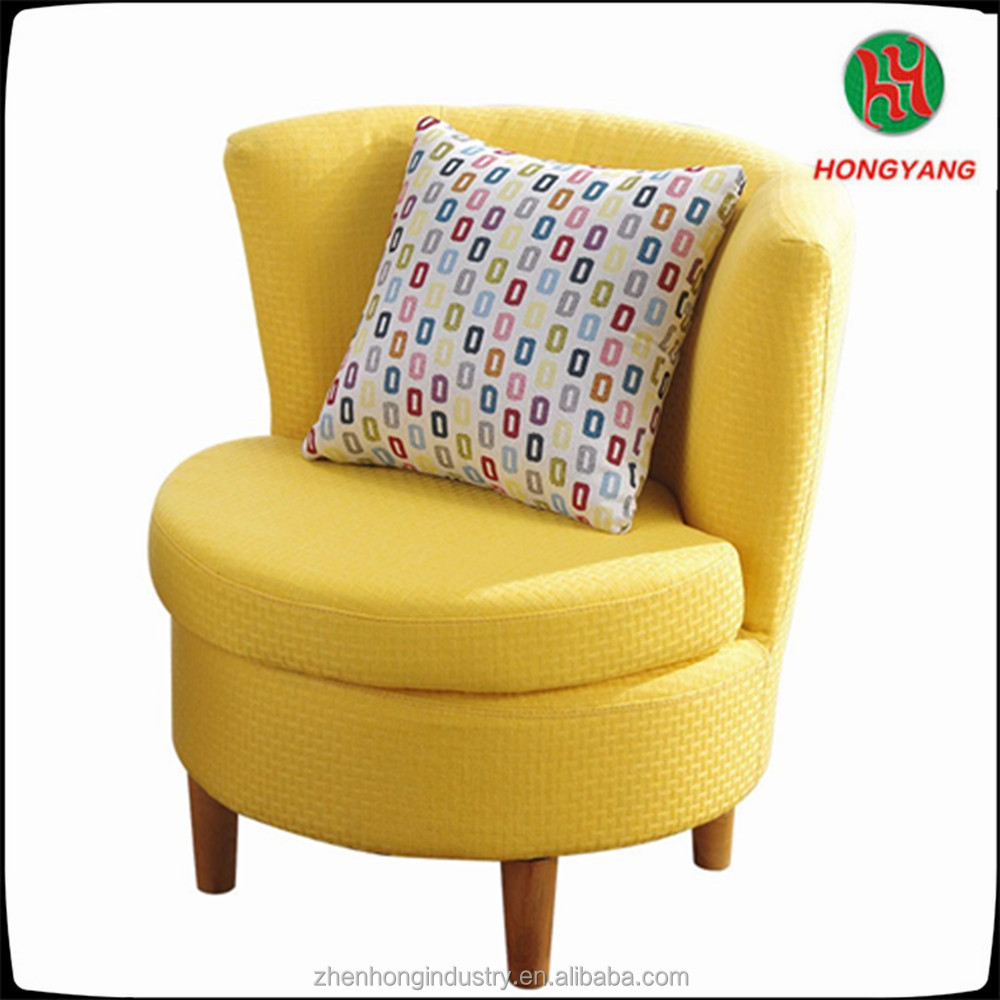2017 Living Room Furniture Leisure Fabric Chair Round Back Living Room Wood Chair