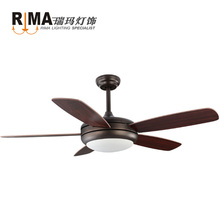 Silent Fan Copper Motor remote control 42 48 52 inch 220v vintage ceiling fan light