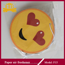 smile face lovely cotton paper air freshener