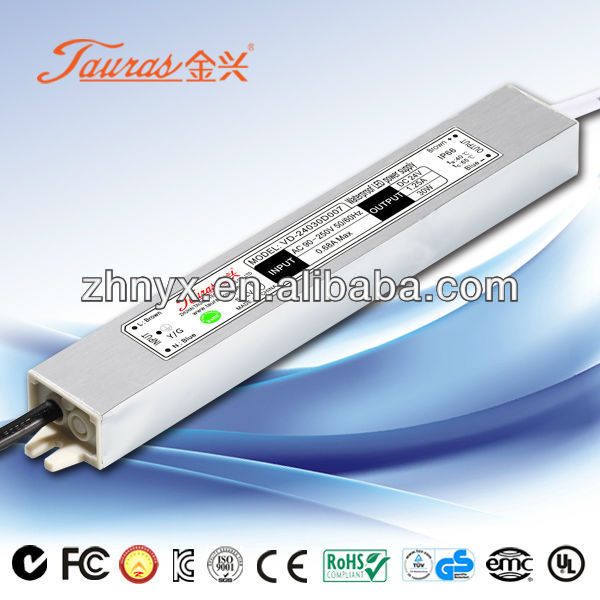 Constant Voltage mini 24V 30W Waterproof LED Driver And Power Supply VD-24030D007