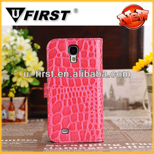 Wholesale cell phone cover,comply for samsung galaxy i9500 mobile phone leather cover high quality factory price
