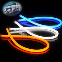 60cm 80cm silicone tube double color flexible led drl/ daytime running light