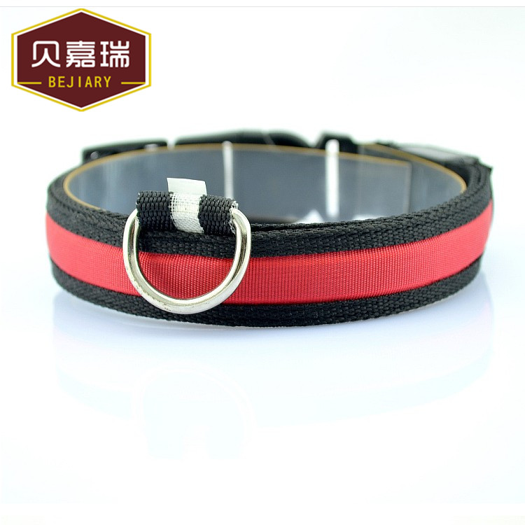 China wholesale led rechargeable pet dog collar