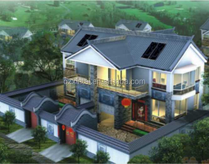 Light Steel Concrete Panel China Prefabricated House / Easy Installation Villa