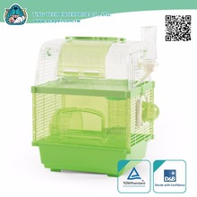 new premium rectangle Transparent Dome plastic covered double layer hamster cage