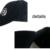 Navy blue printing white sandwich hats with custom logo cap