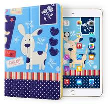 Top/high quality Cute Lovely pattern Universal Protective kid proof Ultra thin case kids double fold cover for ipad mini123