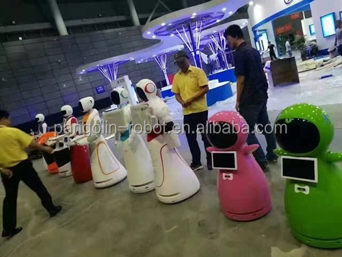 white robot shell voice controlled robot service for home and children
