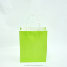 Popular new style green paper hand bag