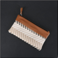 Manufacturers wholesale women handbags type ultra-fiber fight color woven wallet